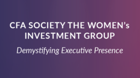 EVENT: Sept. 28th | CFA The Women's Investment Group Event