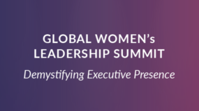 EVENT: Oct. 17th | Global Women's Leadership Summit
